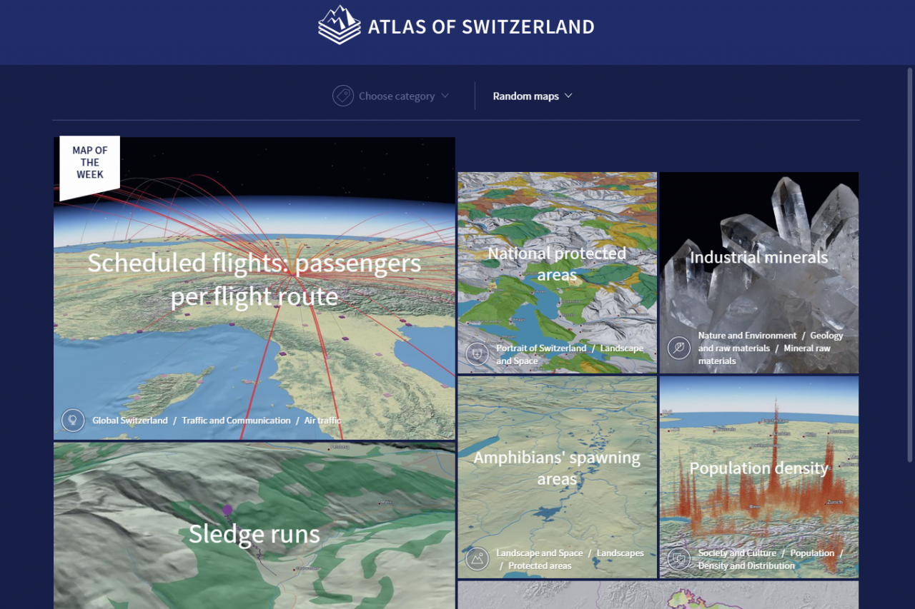 Screenshot: Atlas of Switzerland