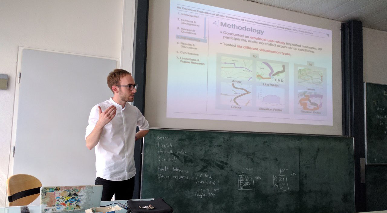 Defended His Master Thesis