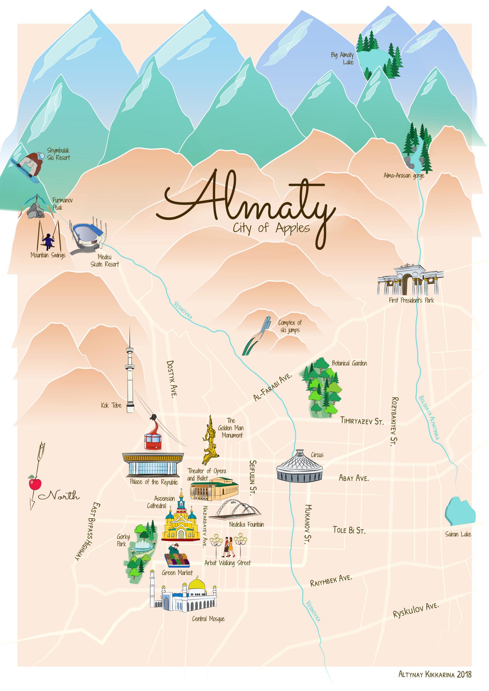 Almaty by Altynay Kikkarina