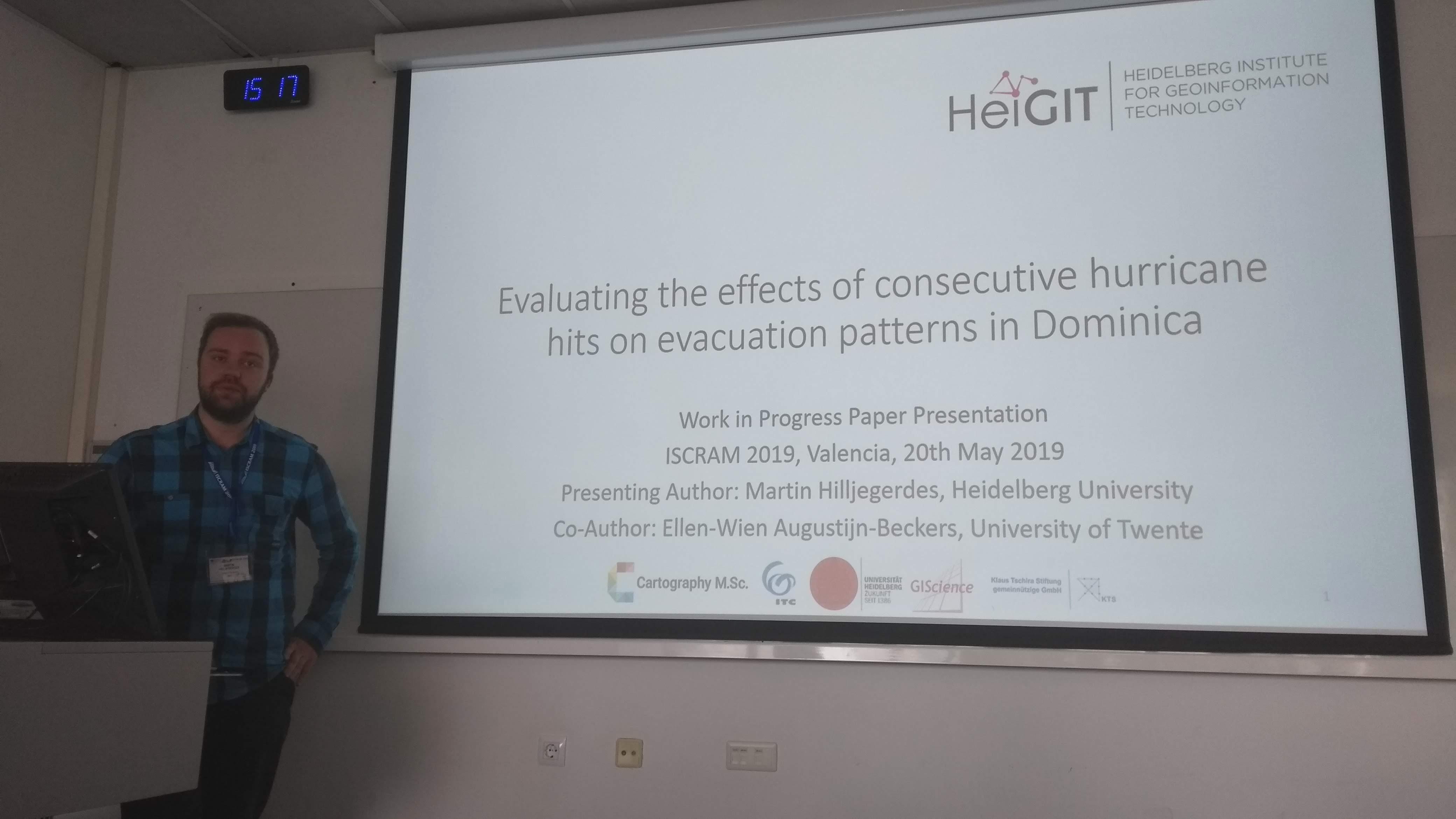 Cartography alumni Martin Hilljegerdes presented his master thesis